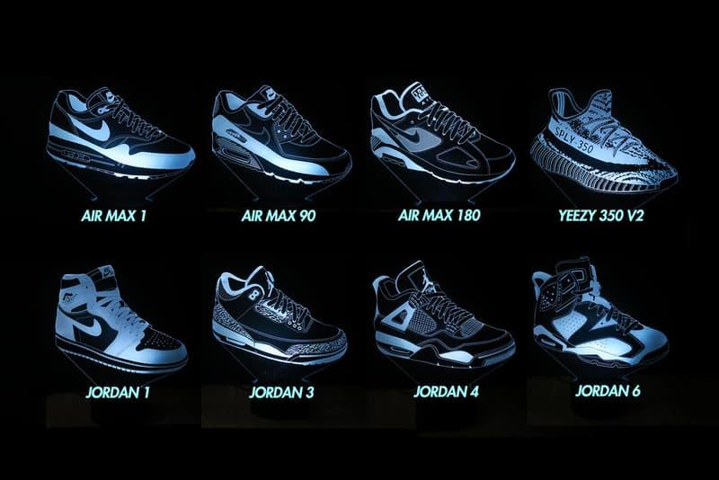 MK Neon Sneaker LED Lights adidas YEEZY BOOST 350 V2 Air Jordan 1 Nike Air Max 1 Homeware Decor