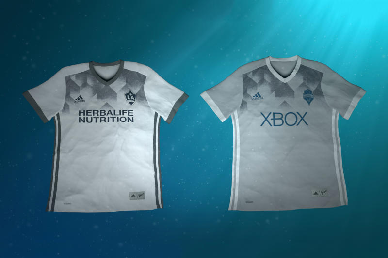 MLS Eco-Friendly adidas x Parley Kits LA Galaxy Seattle Sounders Football Soccer