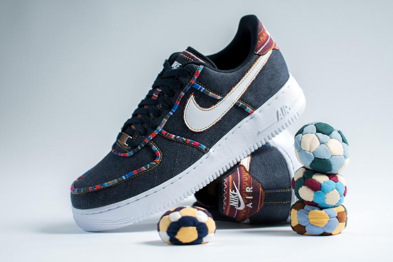 super popular 57a70 8e042 Nike Air Force 1  07 LV8 Hacky Sack Colored Pattern Denim