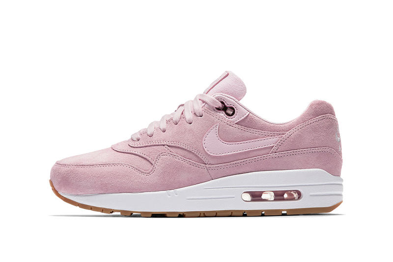 Nike Air Max 1 in Pink Suede  a498aacd11a4