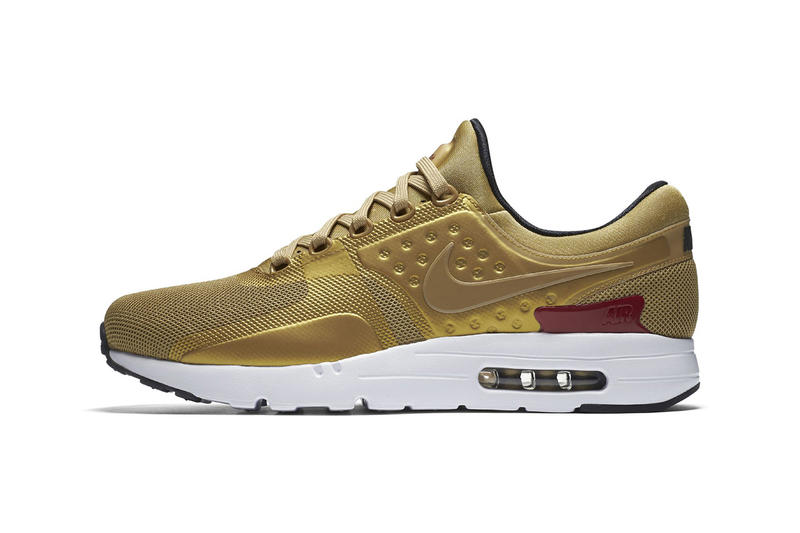 Nike Air Max Zero Metallic Gold Footwear Sneakers Shoes 195115fd0