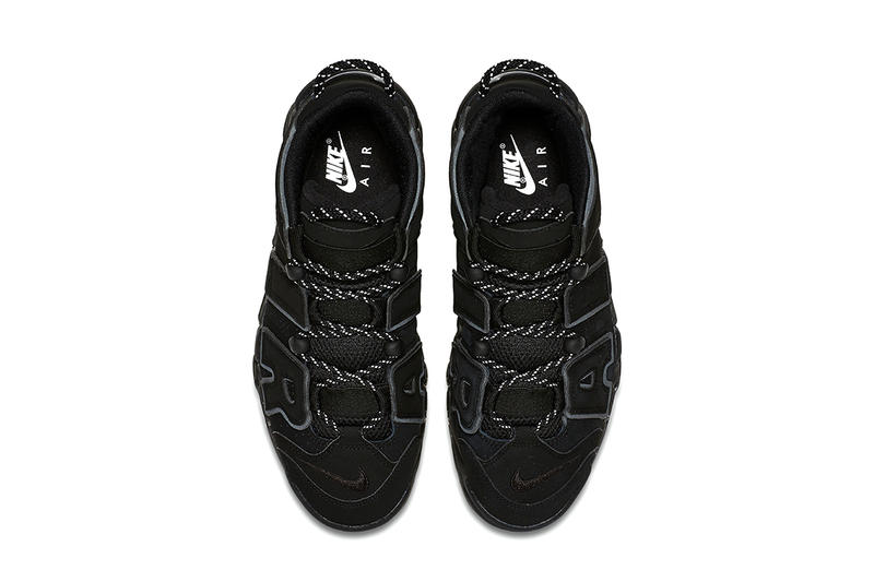 Nike air uptempo triple black sneaker