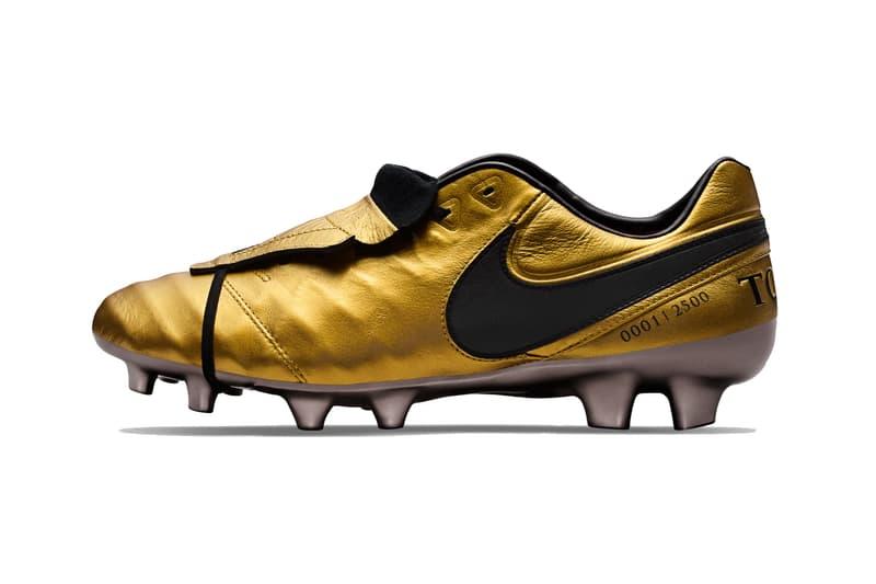 Nike Francesco Totti Gold Tiempo Legend VI Boots cleat ac roma football soccer black