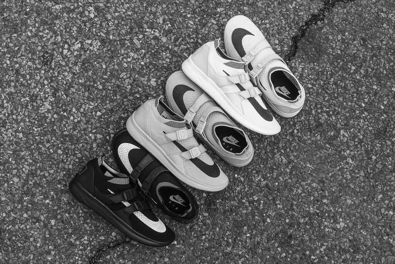 NikeLab Air Sockracer Flyknit Black Sail Pale Grey
