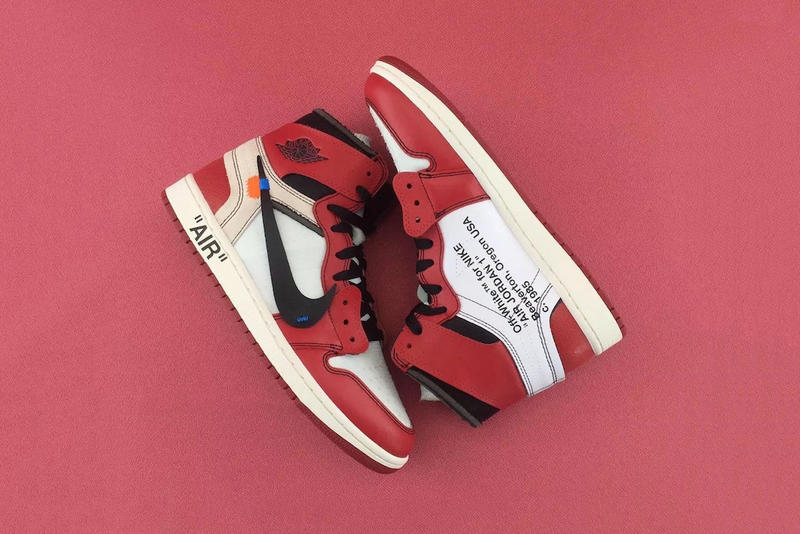 OFF WHITE c o Virgil Abloh Air Jordan 1 Sneaker Footwear Shoes