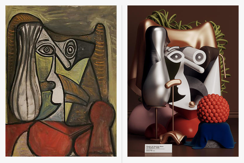 Pablo Picasso Paintings 3D Visuals Artwork Photoshop Cinema 4D Illustrator Geometric