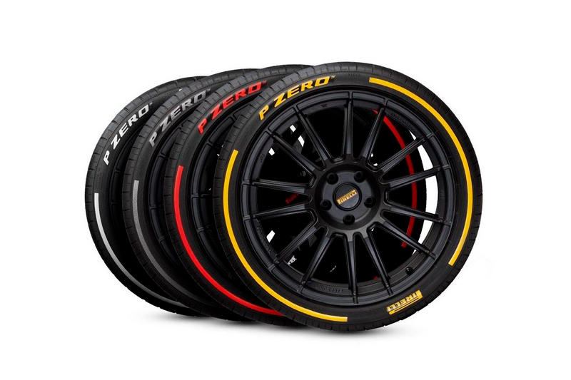 Colored Pirelli P Zero Red Yellow Silver White