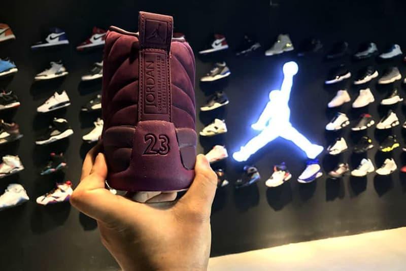 public school air jordan 12 bordeaux colorway sneaker basketball streetwear