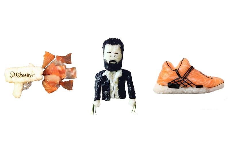 Sneaker Sushi Chef Yujia Hu Onigiriart Shoe-shi yeezy adidas jordan air supreme nike actors pop culture kanye west