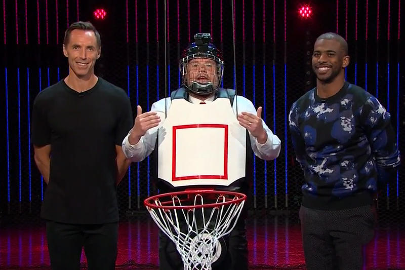 Steve Nash Chris Paul Play Human Basketball The Late Late Show With James Corden Video Los Angeles Clippers