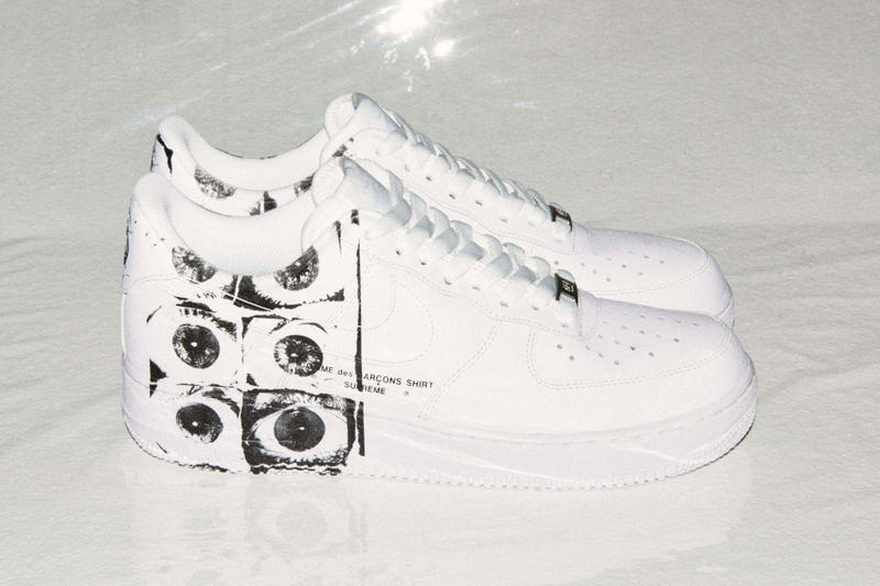 3b24426cc391 Supreme x COMME des GARÇONS SHIRT x Nike Air Force 1 Low. Didn't see this  one coming.