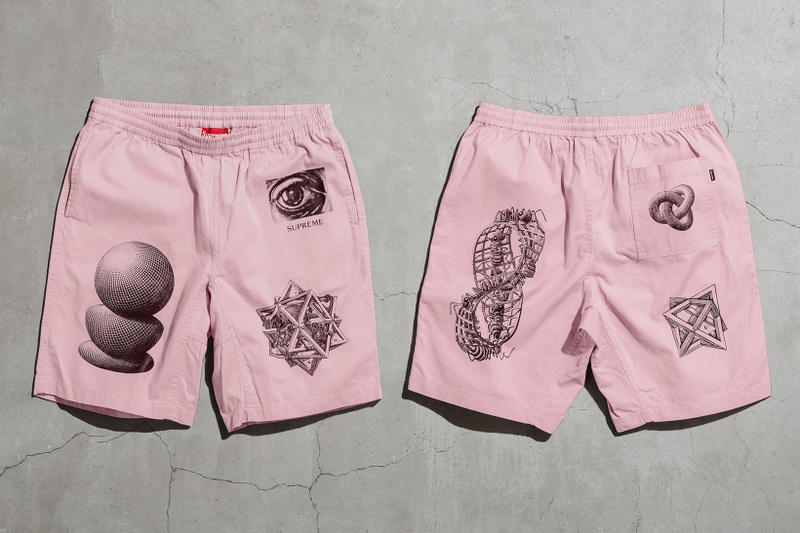 Supreme MC Escher Pink Shorts