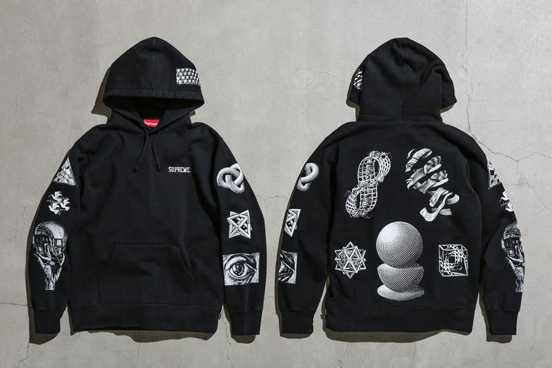 Supreme MC Escher Black Hoodie