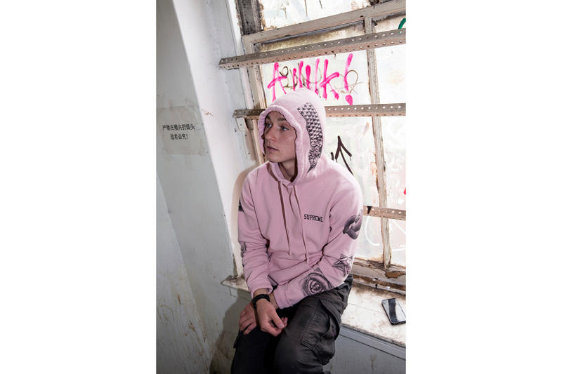 Supreme MC Escher Pink Hoodie