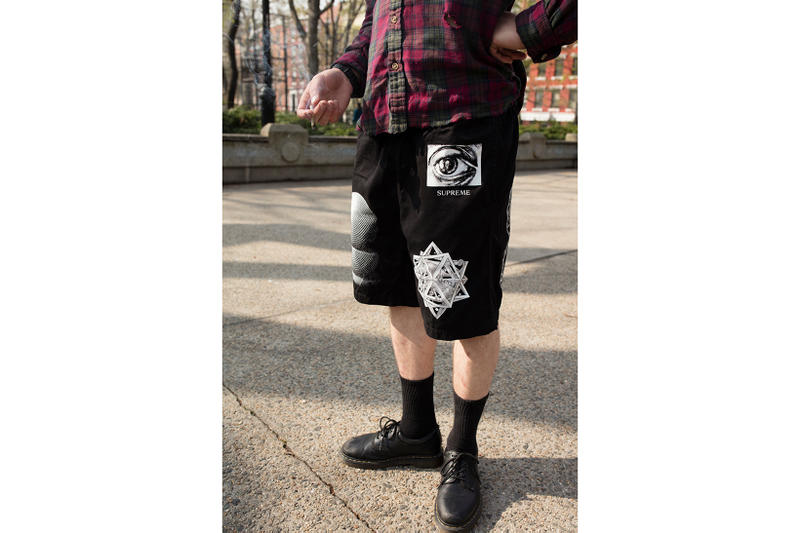 Supreme MC Escher Black Shorts