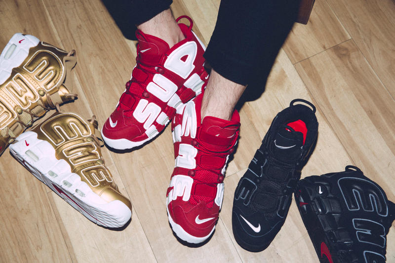Supreme x Nike Air More Uptempos Re-Release Swoosh NikeLab