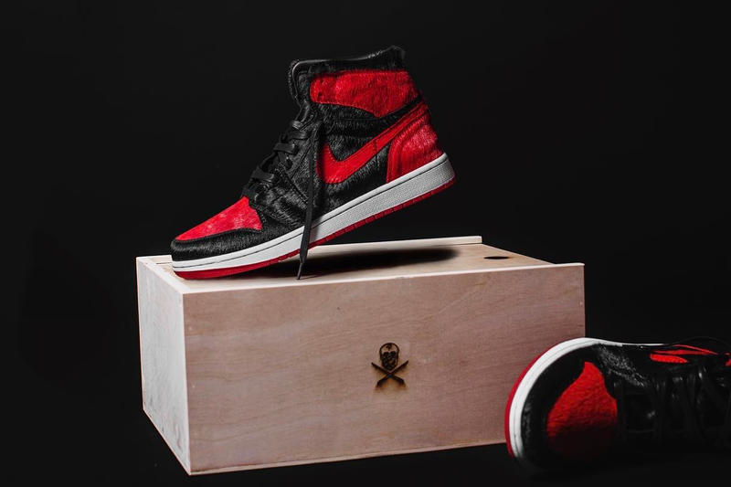 "a918d3e2ca8 The Shoe Surgeon Air Jordan 1 ""Banned"" Pony Hair Footwear Sneakers Shoes  Jordan Brand"