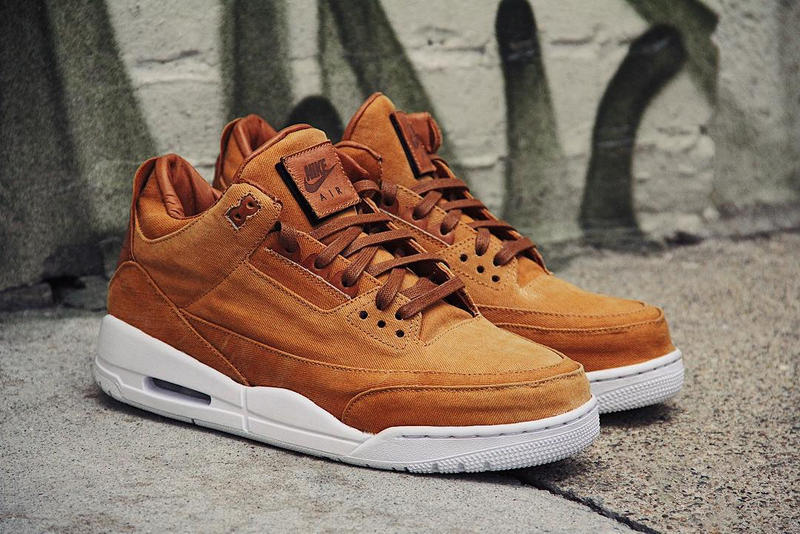 Air Jordan 3 Khaki Denim Custom Ting Meister Leather Brown