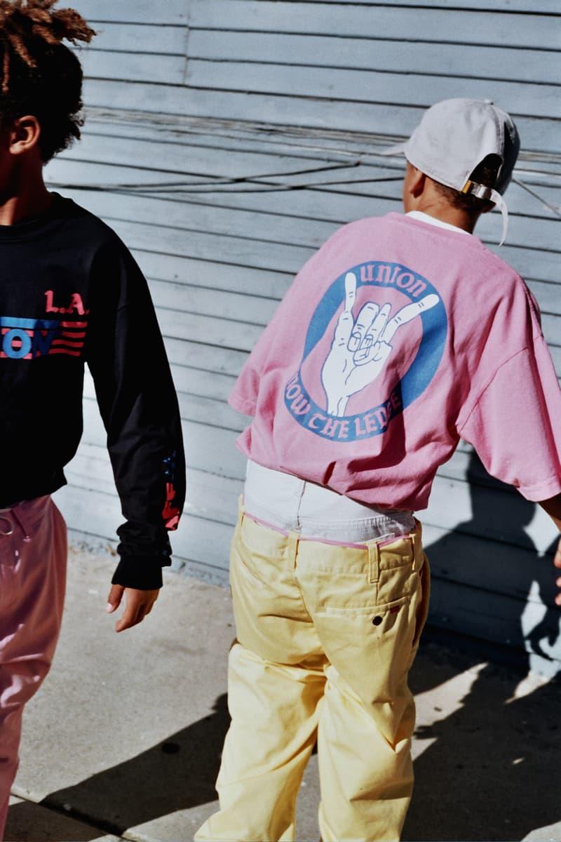 Union LA Lookbook Pink Blue Devil Horns Print