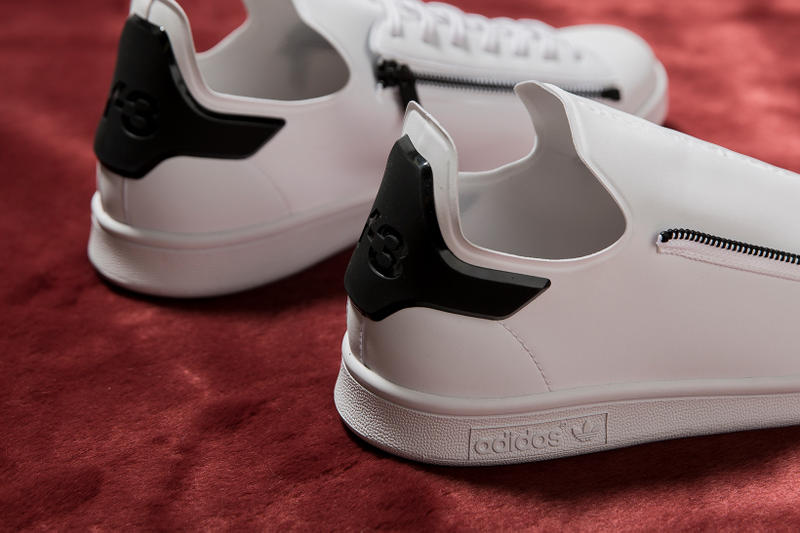 watch 7e9ed 53741 adidas Y-3 Stan Smith Zip Sneaker in Black and White | HYPEBEAST