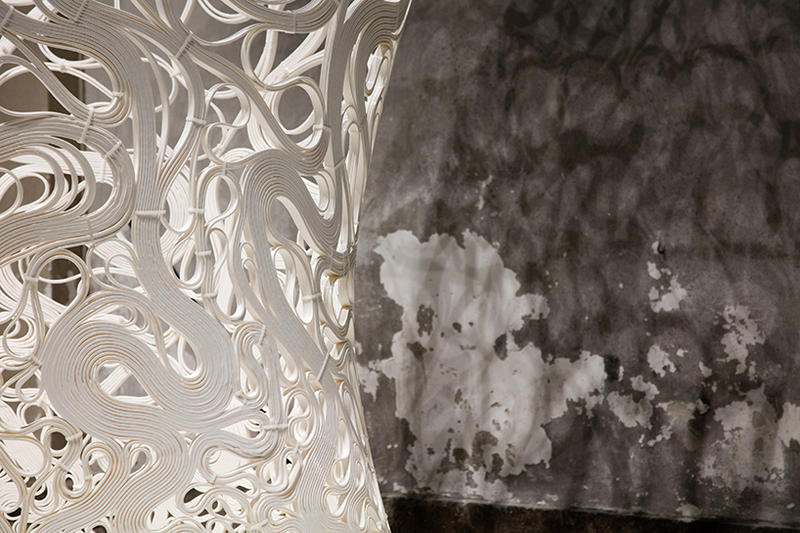 Zaha Hadid Architects Thallus Sculpture Milan Design Week 2017 Installation 3D Printing Art Design