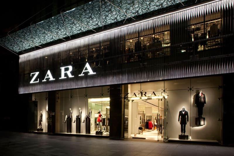 Zara Store Front at Night