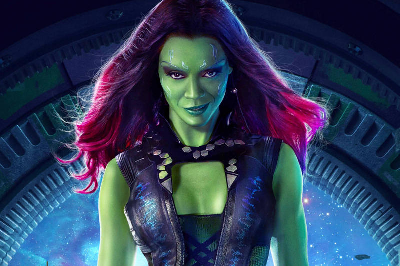 zoe saldana marvel avengers guardians of the galaxy