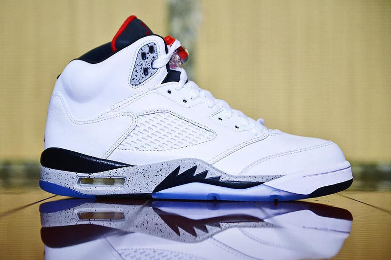 Air Jordan 5 Retro Cement White