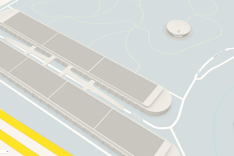 Apple Maps Apple Park 3D Model View