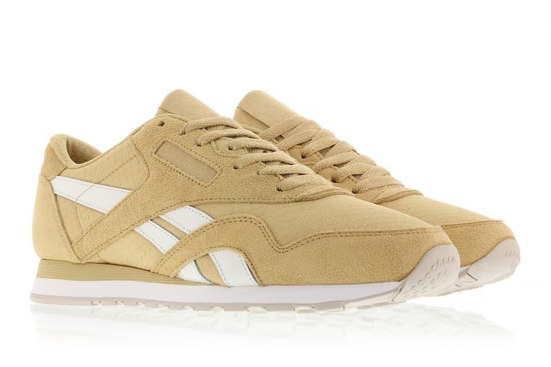 cff2350b9ba Reebok Classic Nylon Tan White Colorway Sneaker Shoe