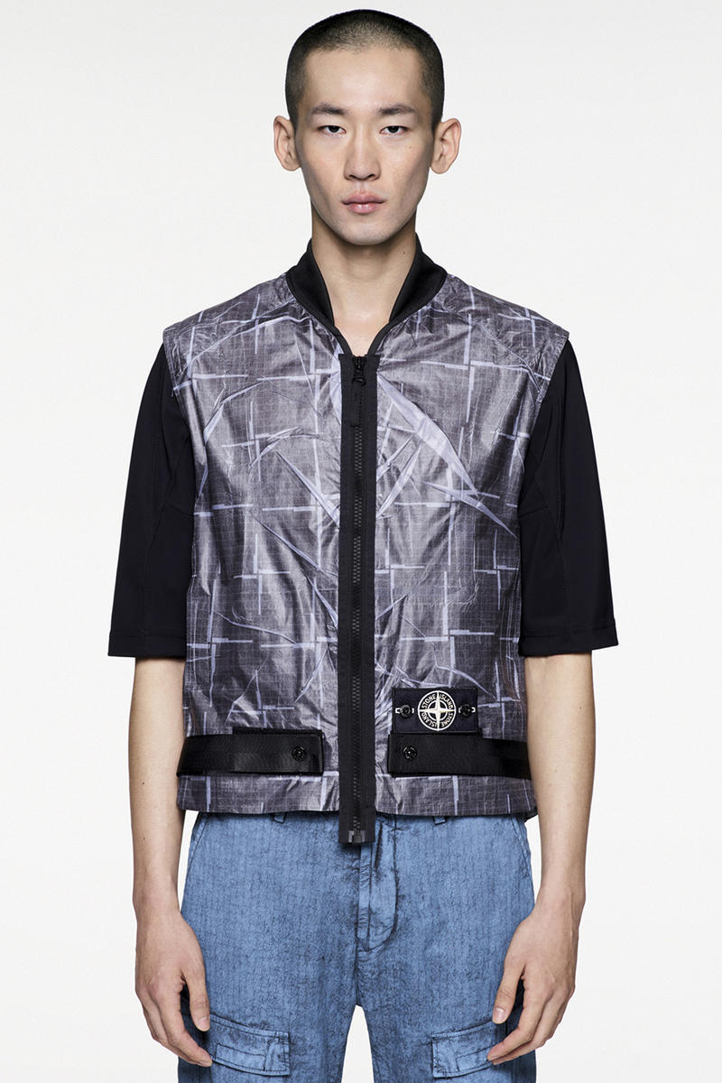 Stone Island Paper Poly House Check Grid Jackets
