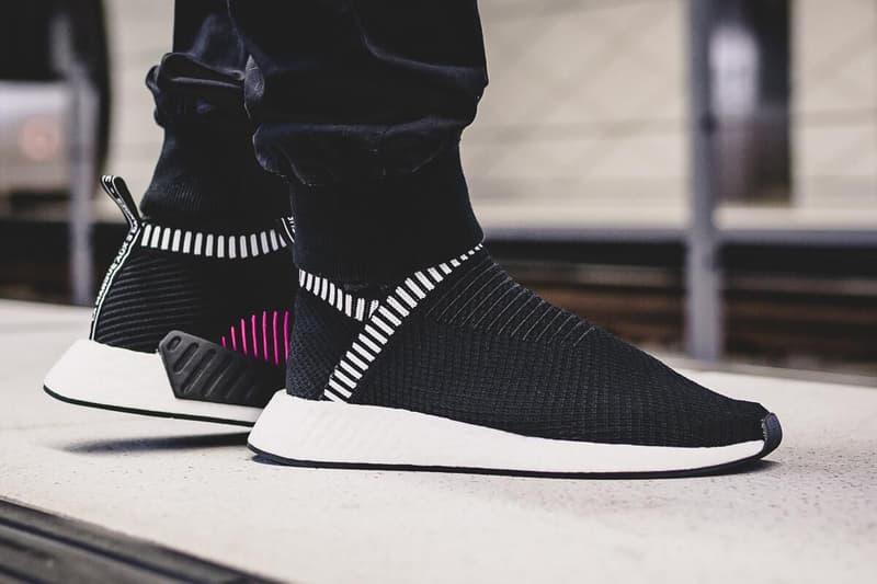 adidas NMD CS2 PK Shock Pink Pack City Sock Grey Black