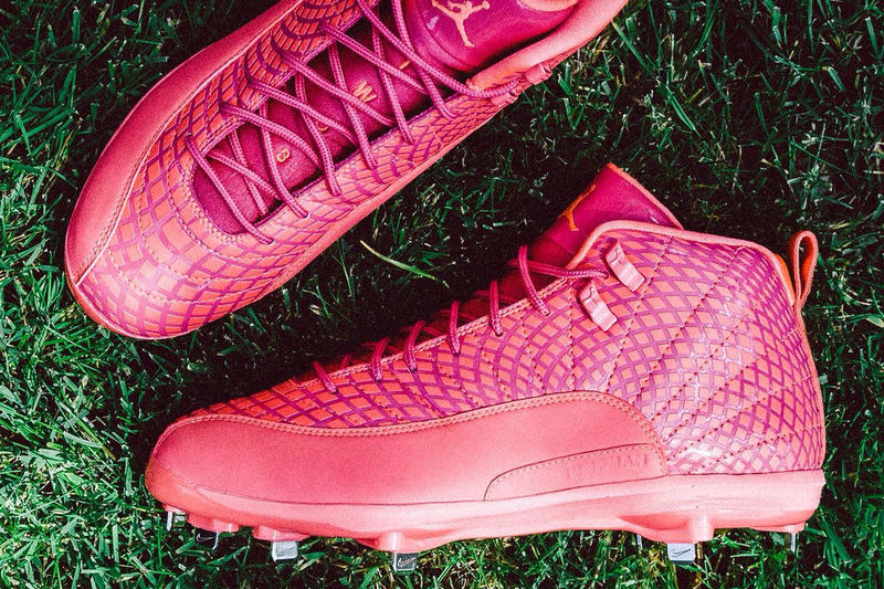 Air Jordan 12 Mother's Day Cleats Pink Mookie Betts