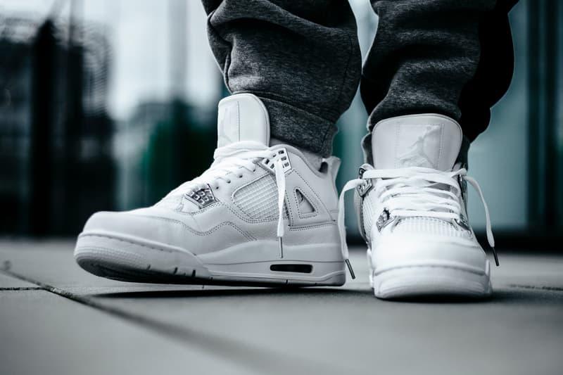Nike Air Jordan 4 Pure Money White Metallic Silver