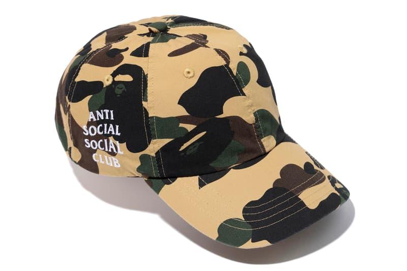 Anti Social Social Club x BAPE Green Yellow Cap Full