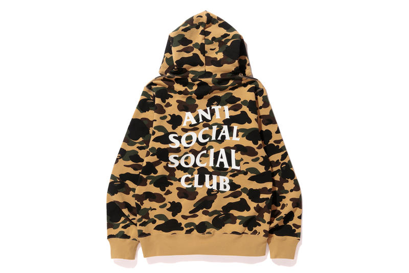 3b6e056cb0ba Anti Social Social Club x BAPE Pullover Yellow Back