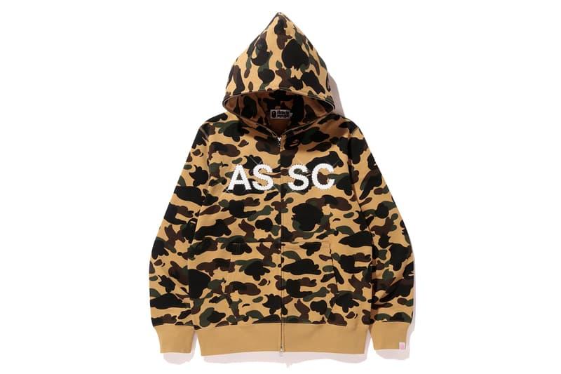 Anti Social Social Club x BAPE Full Zip ASSC Yellow Front