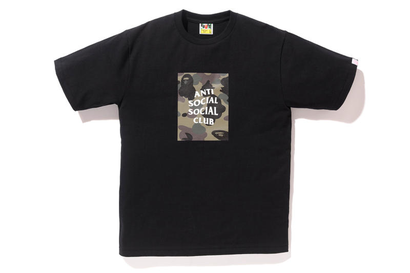 cc0bfc54dad9 Anti Social Social Club x BAPE T-Shirt Black Green Front