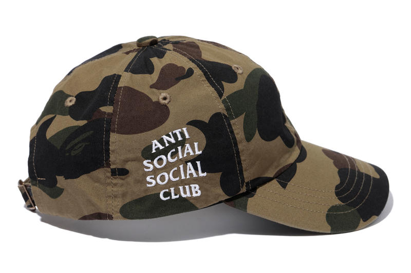 e59fe436ed79 Anti Social Social Club x BAPE Green Camo Cap Side