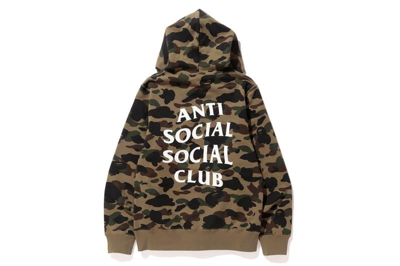 Anti Social Social Club x BAPE Pullover Green Back