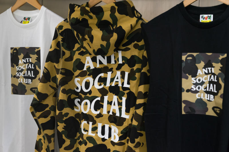 63b20ae6 Anti Social Social Club BAPE Launch Fashion Streetwear Apparel Accessories  Clothing