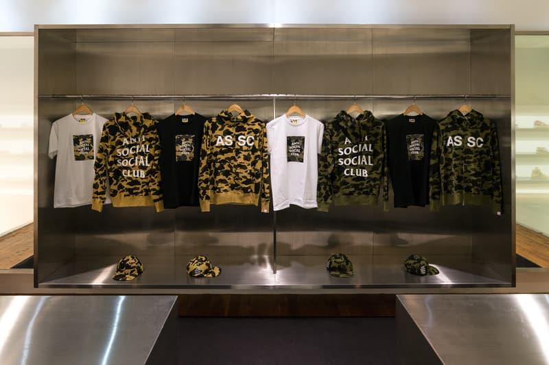 Anti Social Social Club BAPE Launch Fashion Streetwear Apparel Accessories Clothing
