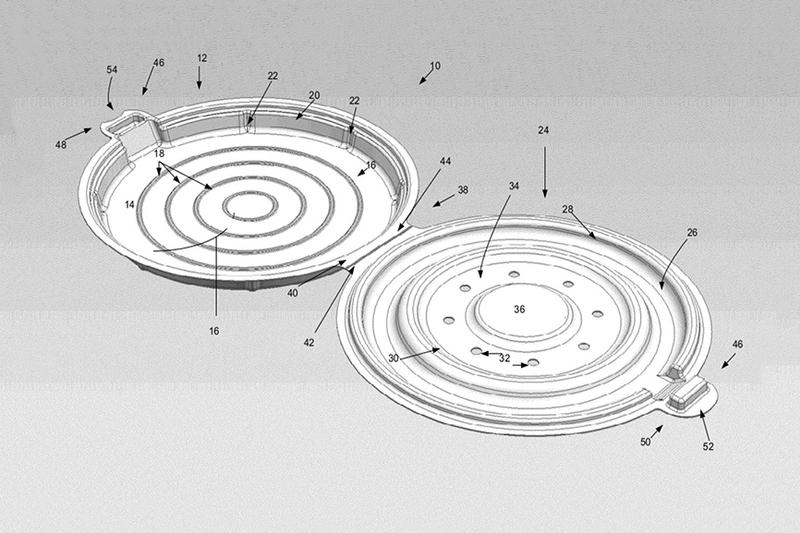 Apple Pizza Container Patent Design Food