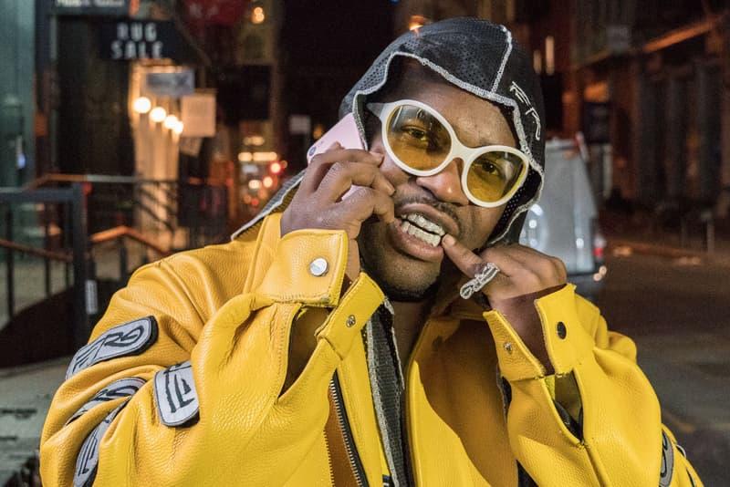 ASAP Ferg Wearing Super by Retrosuperfuture x Gosha Rubchinskiy Sunglasses shades new york city soho traplord front teeth Pop-Up Harlem