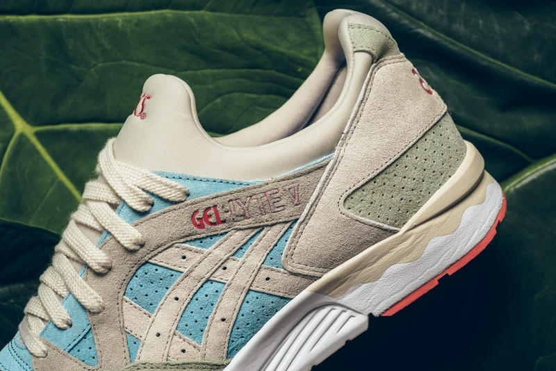"ASICS Gel Lyte V ""Reef"" Beige teal Tan"