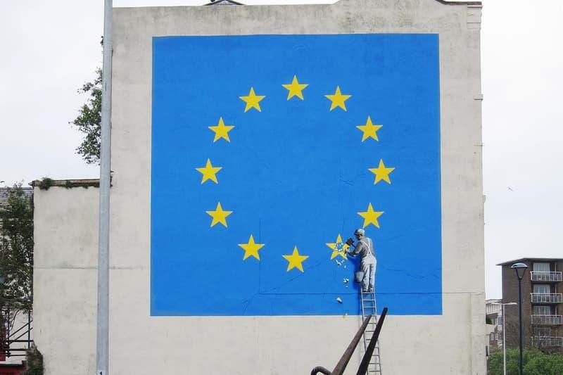 Banksy European Union Flag Mural Dover