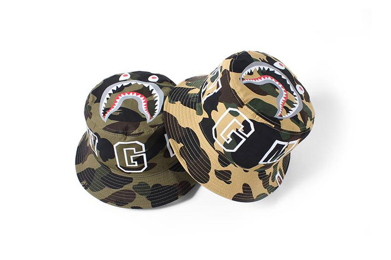BAPE SS17 1ST CAMO SHARK Bucket Hats Fashion Accessories Caps Headwear