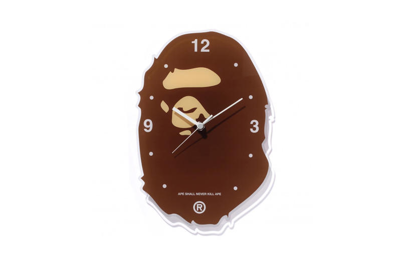 BAPE Ape Head Wall Clock Technology Devices Gadgets Alarm