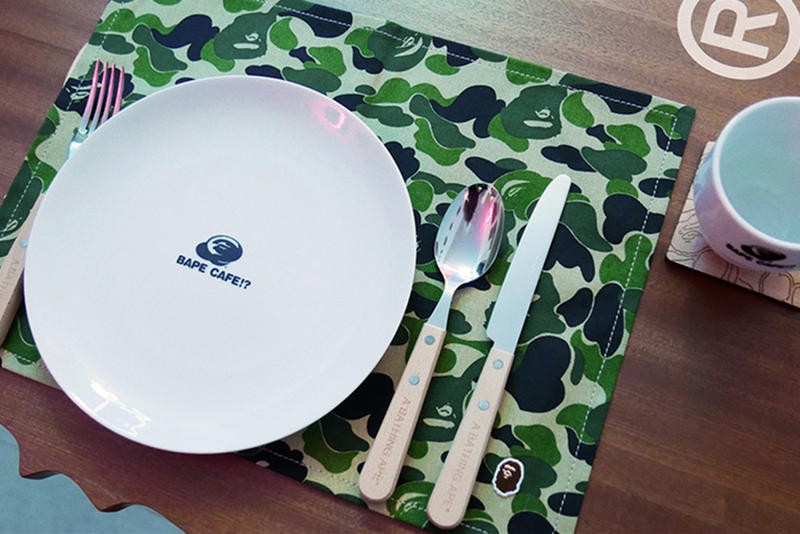 BAPE CAFE!? 2017 Collection A Bathing Ape Placemats Plates Cutlery