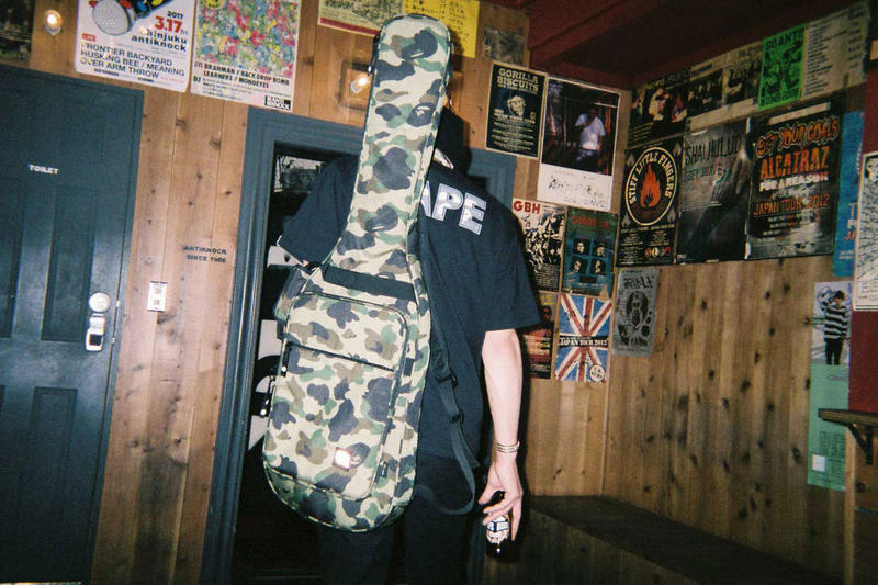 BAPE A Bathing Ape 1ST CAMO Guitar Case Ape Head 3M Green Brown